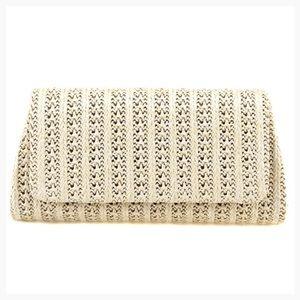 Handbags - Brand New Clutch Straw Beige